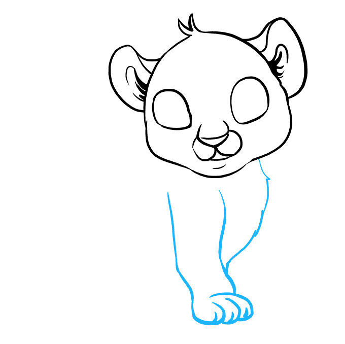 How to Draw Baby Tiger: Step 4