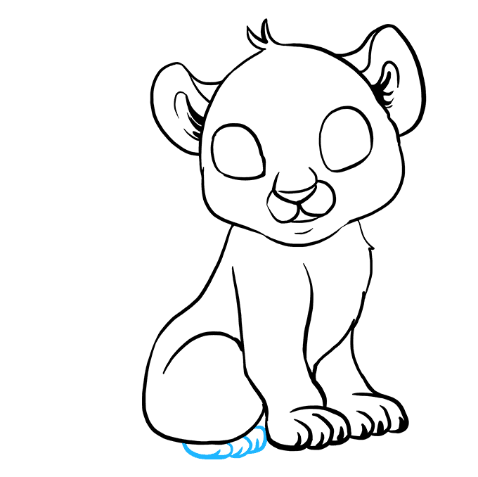How to Draw Baby Tiger: Step 7