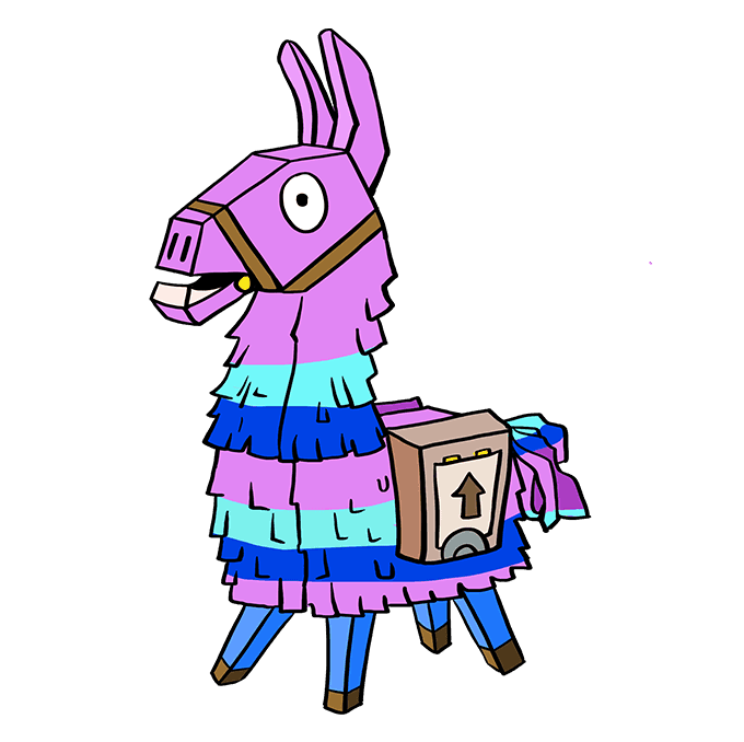 How to Draw Llama from Fortnite: Step 10