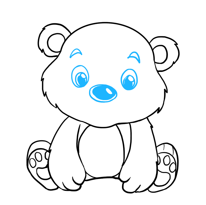 How to Draw Baby Bear: Step 8
