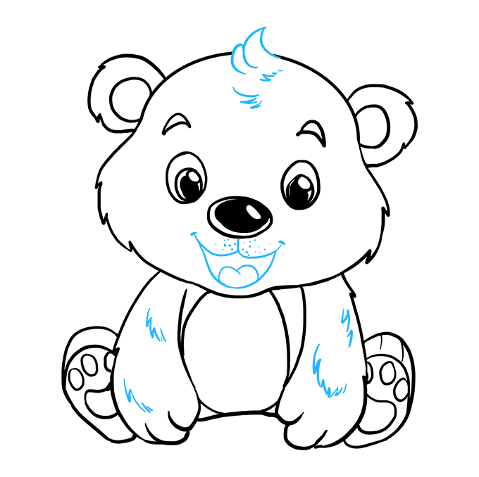 How to Draw Baby Bear: Step 9
