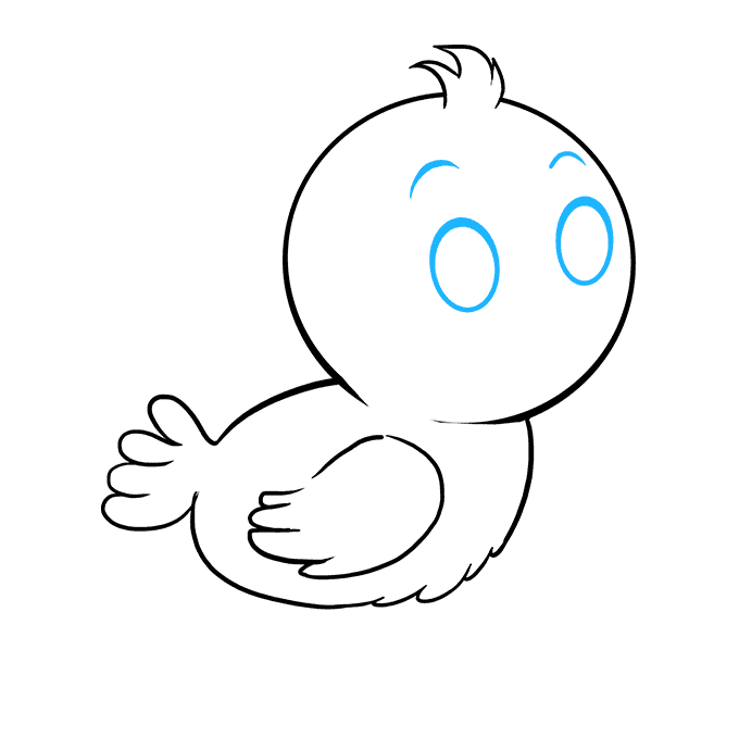 How to Draw Baby Bird: Step 6