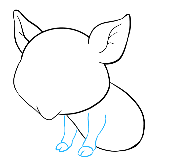 How to Draw a Baby Pig Step 06