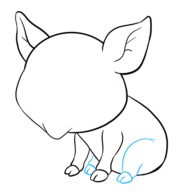 How to Draw a Baby Pig Step 07