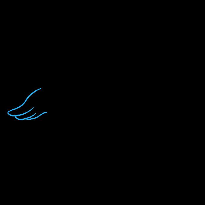 Cómo dibujar una foca bebé: paso 7