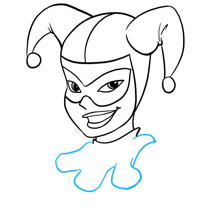 How to Draw Harley Quinn: Step 8