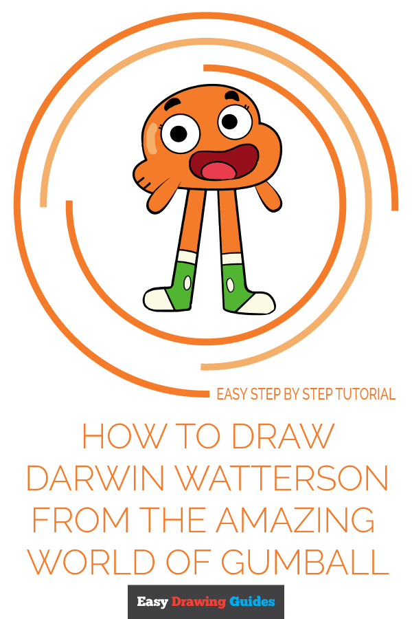 How to Draw Darwin Watterson | Share to Pinterest