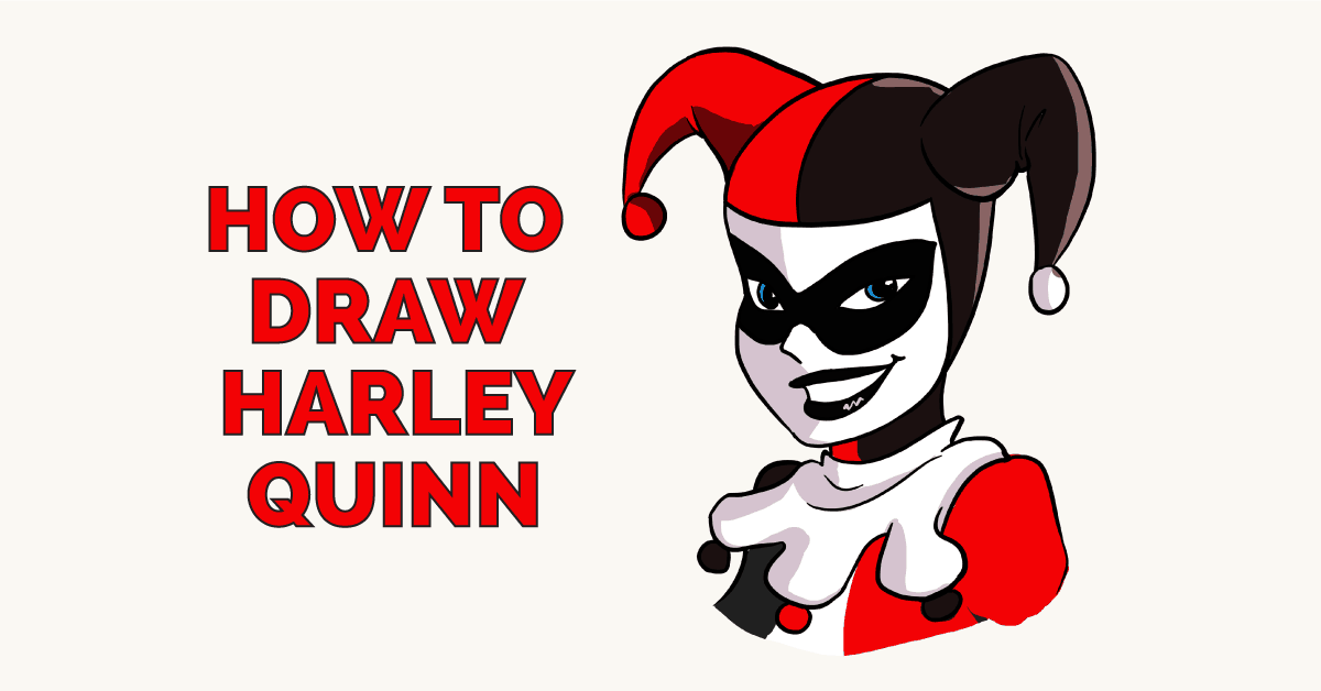 How to Draw Harley Quinn Featured Image