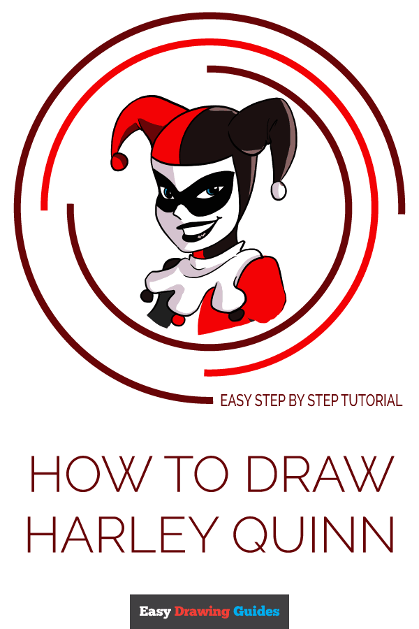 How to Draw Harley Quinn | Share to Pinterest