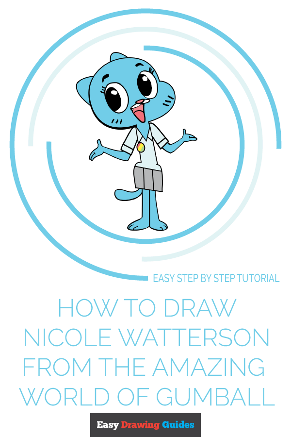 How to Draw Nicole Watterson from the Amazing World of Gumball Pinterest Image