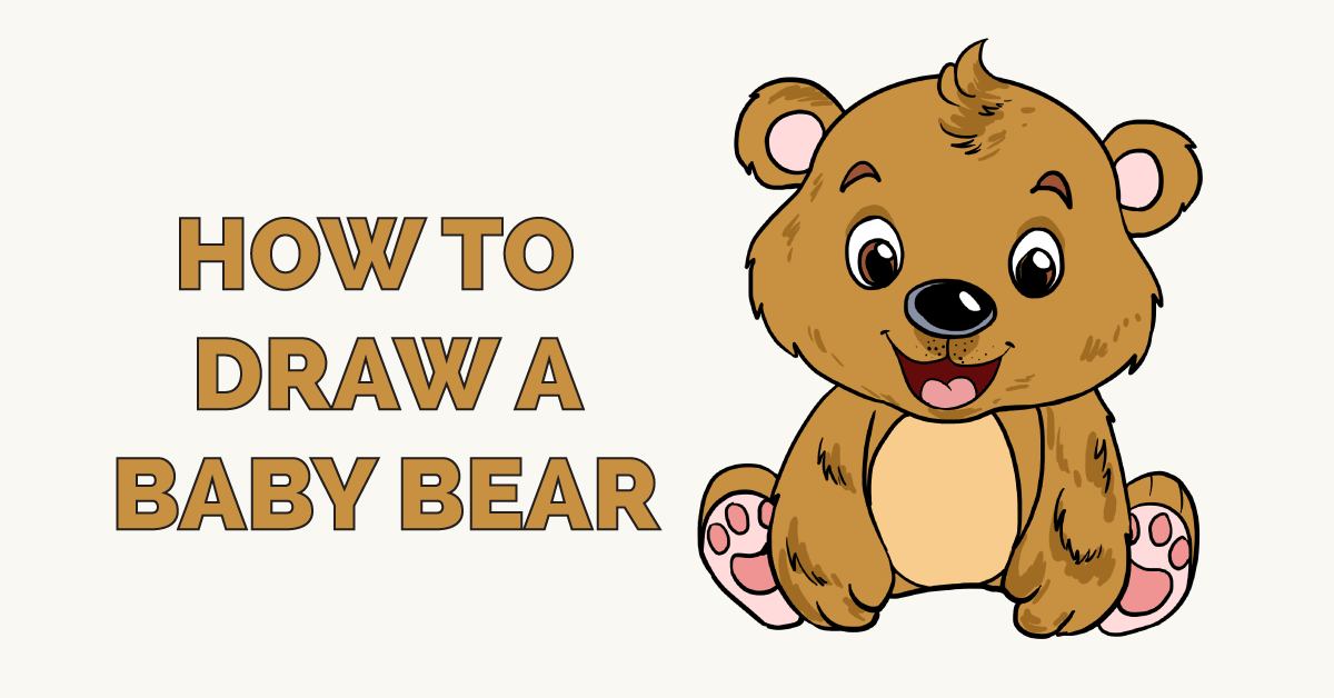 How to draw a baby bear - featured image