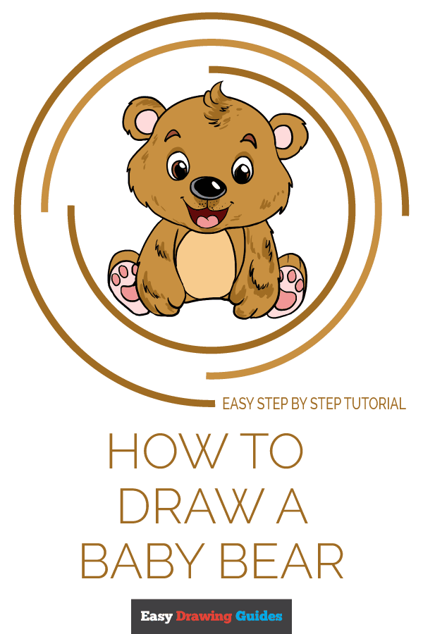 How to Draw Baby Bear | Share to Pinterest