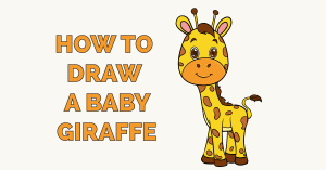 How to Draw a Baby Giraffe Featured Image