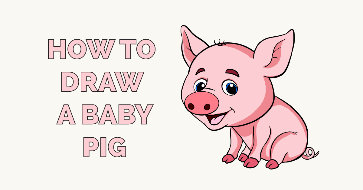 How to Draw a Baby Pig Featured Image