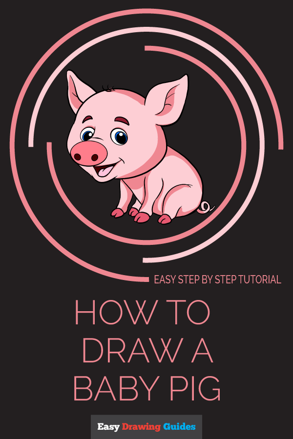 How to Draw a Baby Pig Pinterest Image