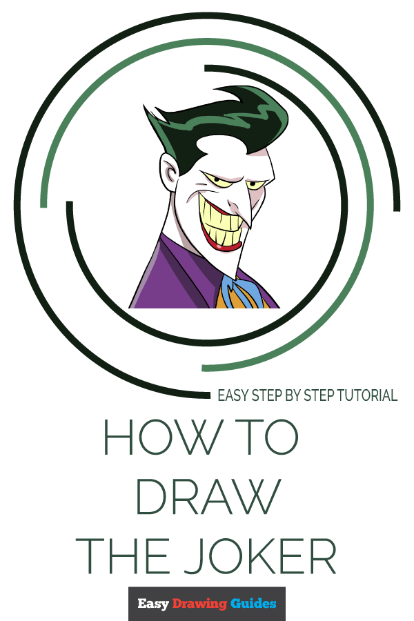How to Draw Joker | Share to Pinterest