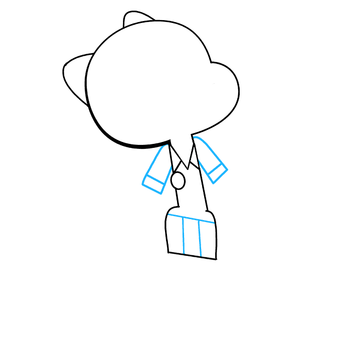 How to Draw Nicole Watterson from the Amazing World of Gumball Step 06