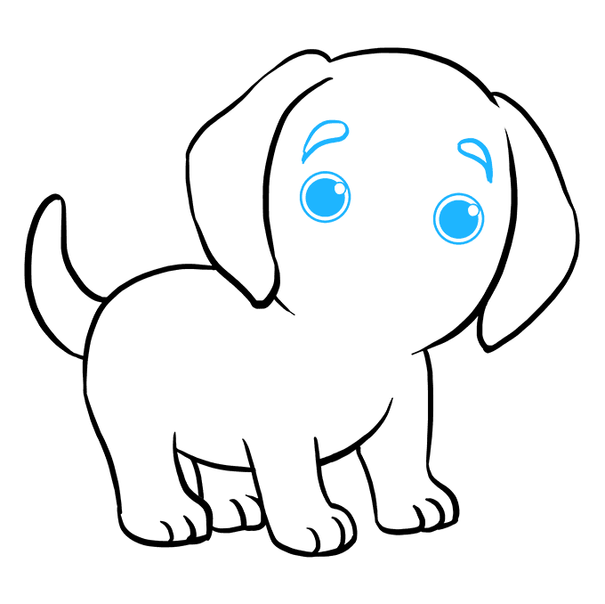 How to Draw a Puppy - Really Easy Drawing Tutorial