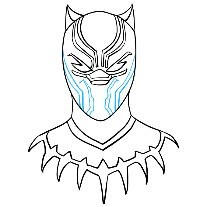 How to Draw the Black Panther Step 09