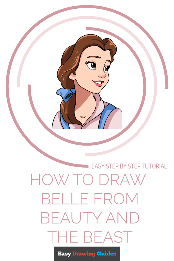 How to Draw Belle from Beauty and the Beast | Share to Pinterest