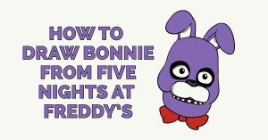 How to Draw Bonnie from Five Nights at Freddys Featured Image