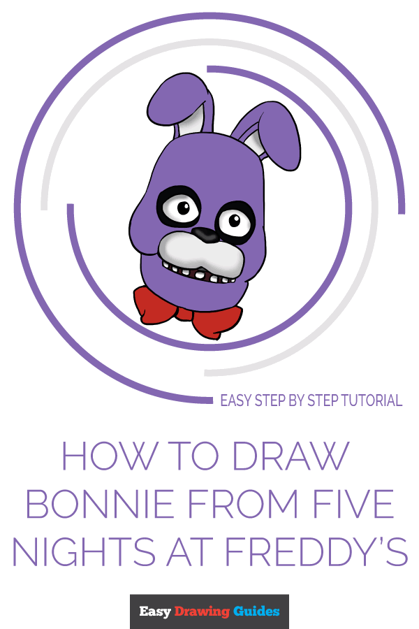 How to Draw Bonnie from Five Nights at Freddys Pinterest Image