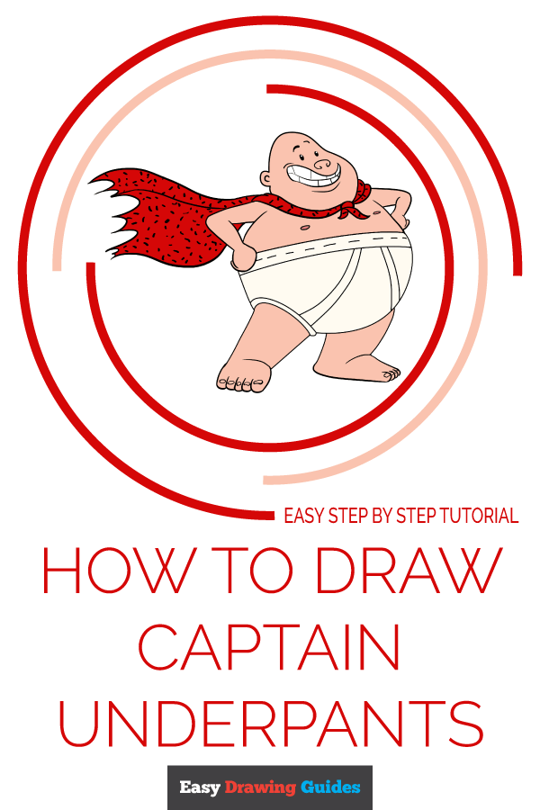 How to Draw Captain Underpants | Share to Pinterest
