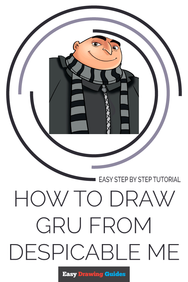 How to Draw Gru | Share to Pinterest
