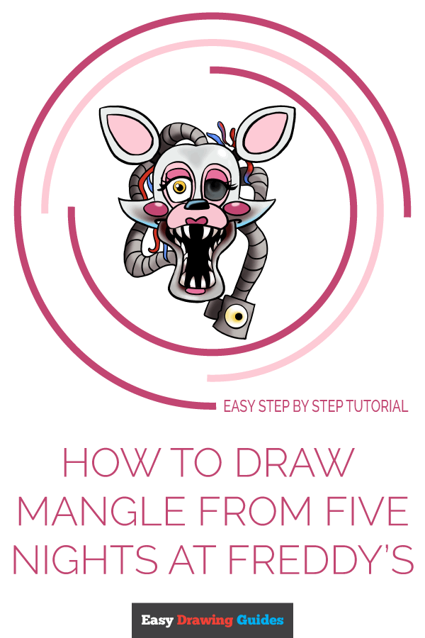 How to Draw Mangle from Five Nights at Freddy's | Share to Pinterest