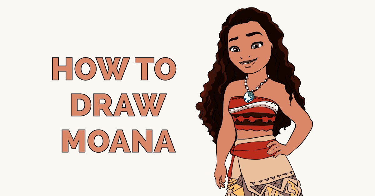 How to Draw Moana Featured Image