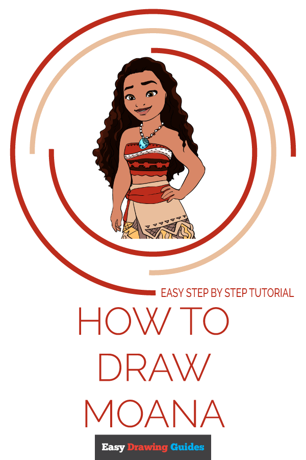 How to Draw Moana | Share to Pinterest