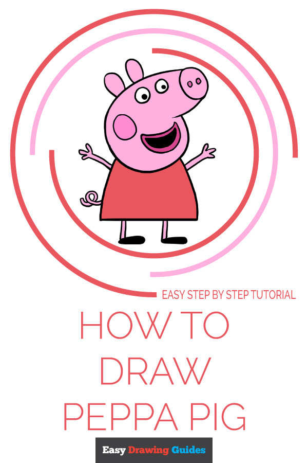 How to Draw Peppa Pig | Share to Pinterest