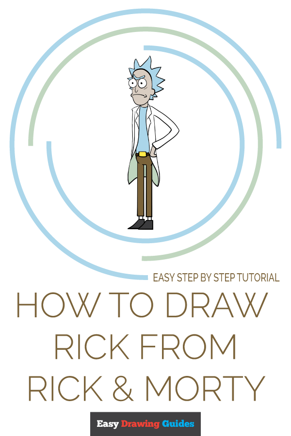 How to Draw Rick from Rick and Morty | Share to Pinterest