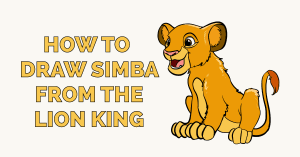 How to Draw Simba from the Lion King Featured Image