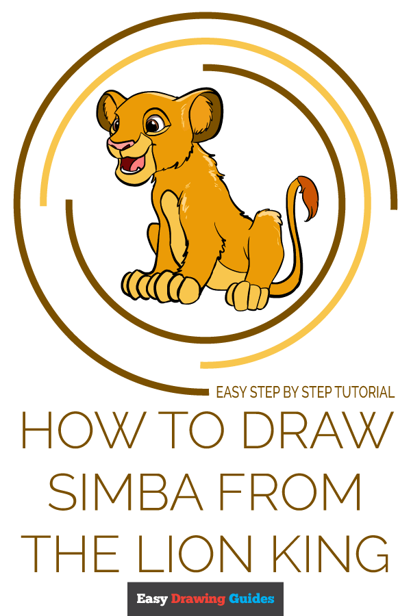 How to Draw Simba from the Lion King | Share to Pinterest