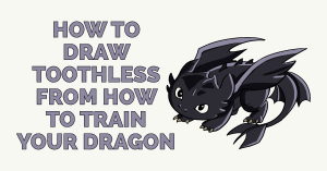 How to Draw Toothless from How to Train your Dragon Featured Image