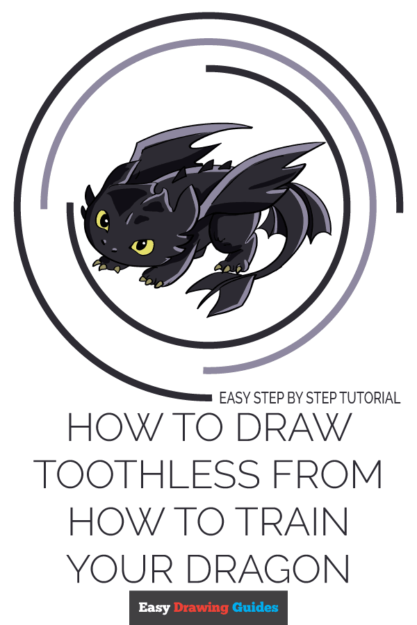 How to Draw Toothless from How to Train your Dragon Pinterest Image