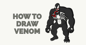 How to Draw Venom Featured Image