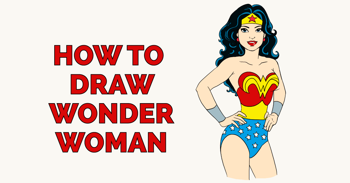 How to Draw Wonder Woman Featured Image