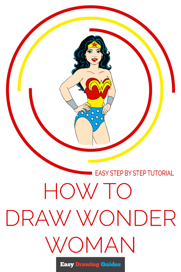 How to Draw Wonder Woman | Share to Pinterest