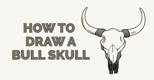 How to Draw a Bull Skull Featured Image