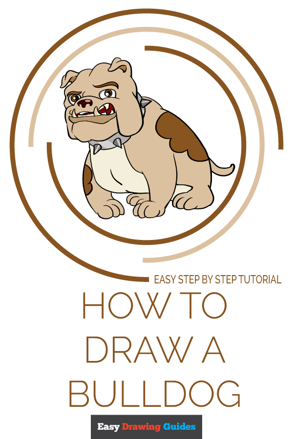 How to Draw Bulldog | Share to Pinterest