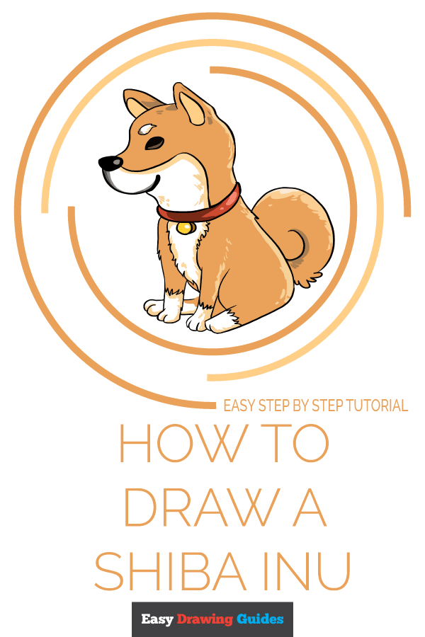 How to Draw a Shiba Inu Pinterest Image