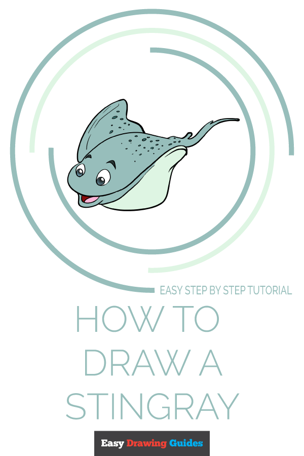 How to Draw Stingray | Share to Pinterest