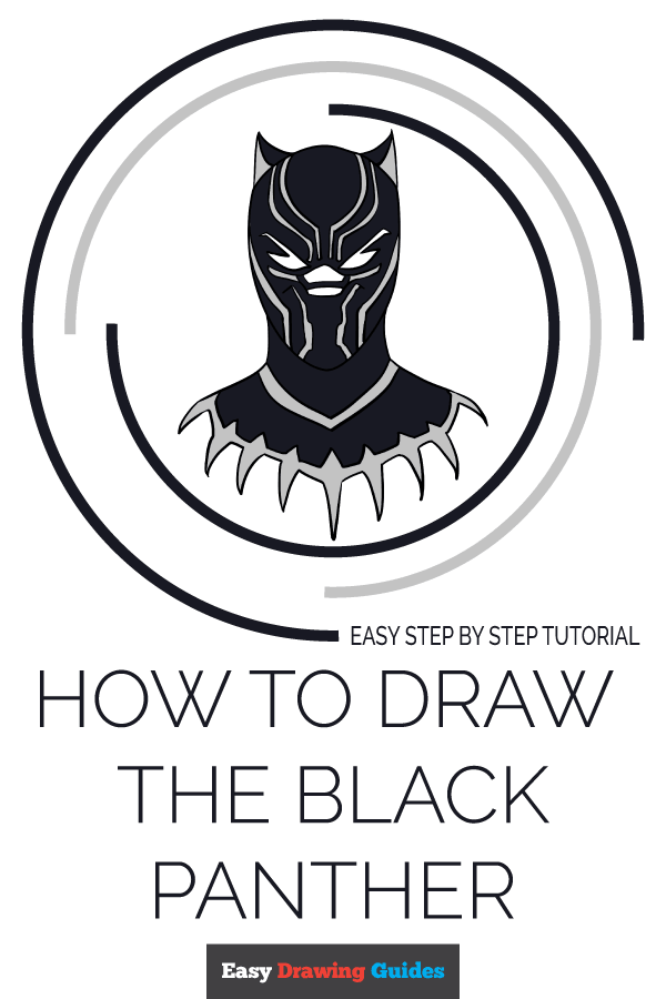 How to Draw the Black Panther Pinterest Image