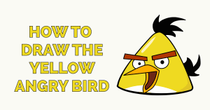 How to Draw the Yellow Angry Bird Featured Image