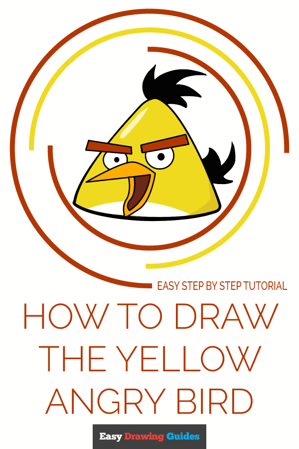How to Draw Yellow Angry Bird | Share to Pinterest