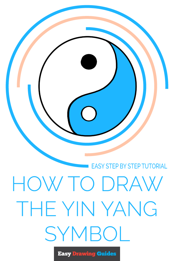 How to Draw Yin Yang Symbol | Share to Pinterest