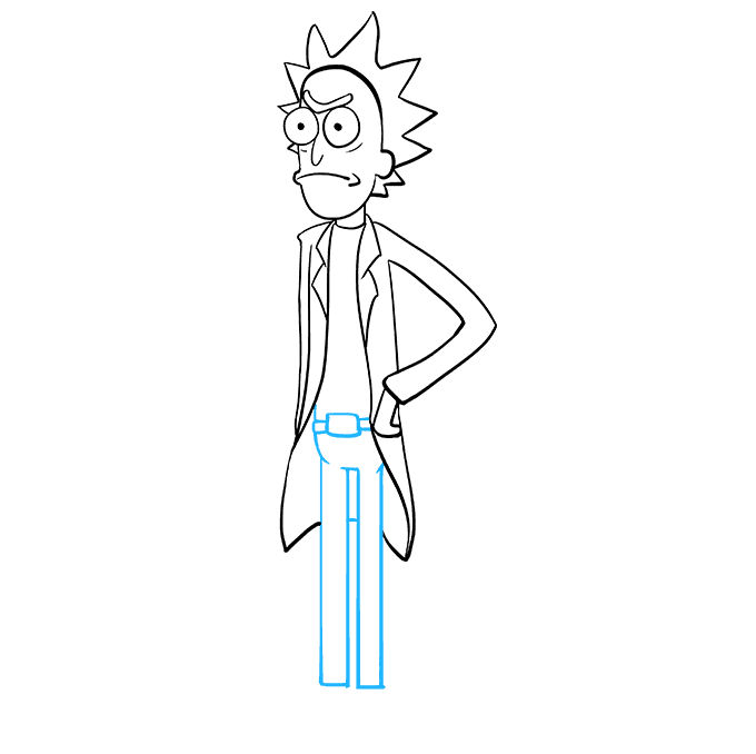 How to Draw Rick from Rick and Morty: Step 8