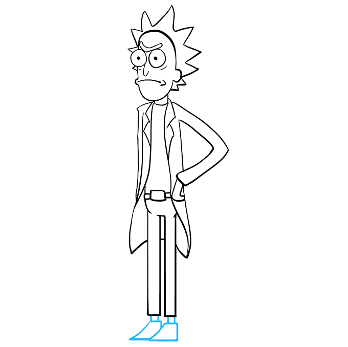 How to Draw Rick from Rick and Morty: Step 9